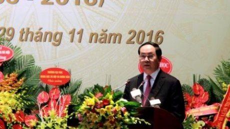 Buc tranh dac biet Hoi Lich su tang Chu tich nuoc Tran Dai Quang - Anh 3