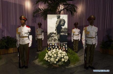 Chu tich Quoc hoi Viet Nam vieng lanh tu Fidel Castro tai La Habana - Anh 1