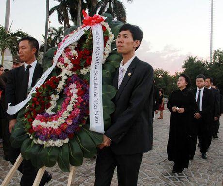 Hinh anh: Doan dai bieu Dang, Nha nuoc Viet Nam vieng Lanh tu Cuba Fidel - Anh 5