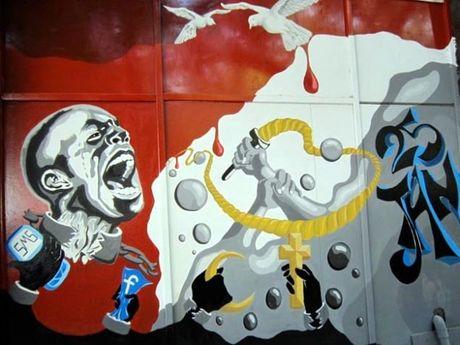 Nhung buc tuong tranh graffiti day mau sac tai Ai Cap - Anh 3