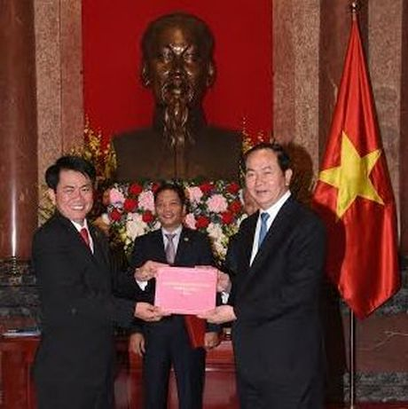 Chu tich nuoc: Doanh nghiep phai bam sat gia tri Thuong hieu quoc gia - Anh 4