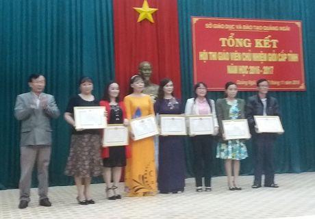 Quang Ngai lan dau to chuc Hoi thi Giao vien chu nhiem gioi cap tinh - Anh 1