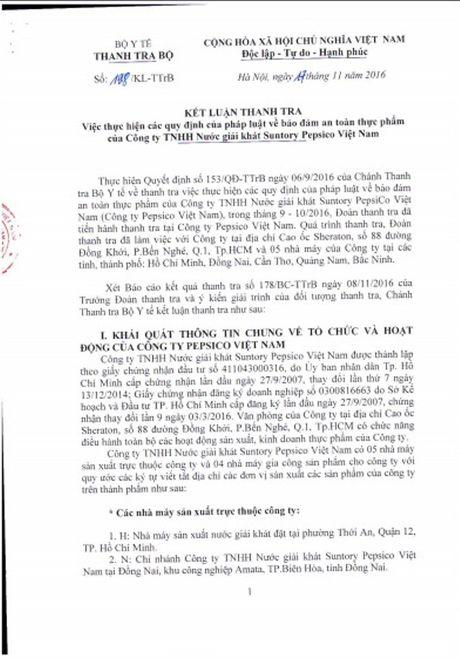 Nhieu cau hoi chua duoc lam sang to sau ket luan thanh tra Pepsico Viet Nam - Anh 1