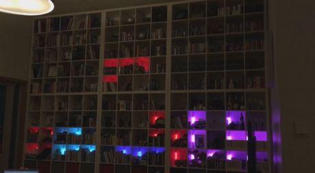 Choi game xep hinh Tetris bang ke sach - Anh 1