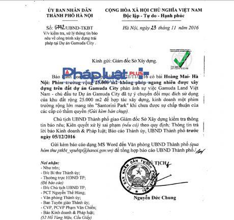 Chu tich Nguyen Duc Chung chi dao xu ly nghiem phim truong khong phep tren du an Gamuda City - Anh 1
