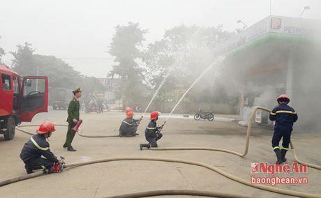 Dien tap phuong an chua chay tai cua hang xang dau - Anh 1