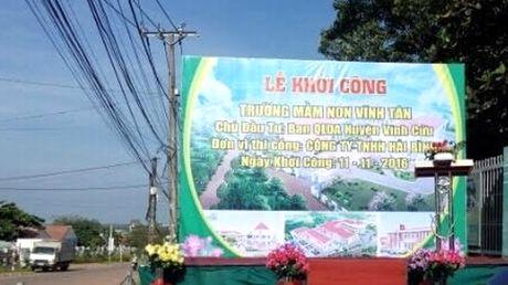 Goi thau xay lap Truong mam non Vinh Tan (Dong Nai): To cao cua nha thau bi phan bac - Anh 1