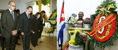 BAN TIN MAT TRAN: Chu tich Nguyen Thien Nhan vieng Lanh tu Cuba Fidel Castro - Anh 1