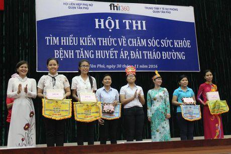 Hoi PN Q.Tan Phu: Truyen thong kien thuc cham soc suc khoe cho hoi vien - Anh 3