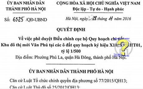 Ha Noi dieu chinh cuc bo Quy hoach chi tiet Khu do thi moi Van Phu - Anh 1