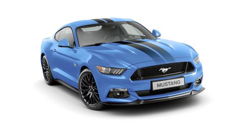 Ford Mustang Black Shadow Edition va Blue Edition trinh lang - Anh 2