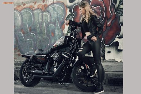 Nu biker Thu Anh sieu nong bong ben Harley-Davidson Iron 883 - Anh 8