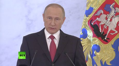 "Tong thong Putin doc thong diep lien bang ""khac biet"" - Anh 1"