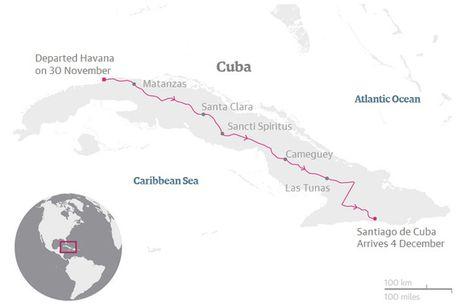 Cuba dua tro cot dong chi Fidel Castro di vong quanh dat nuoc - Anh 3