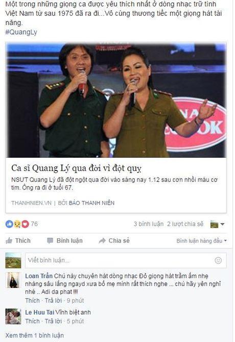 Tin nghe si Quang Ly dot ngot qua doi khien nguoi ham mo bang hoang - Anh 1