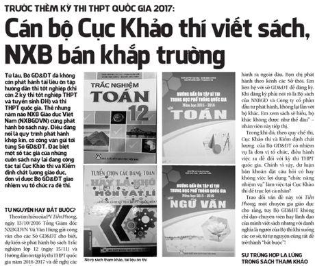 Tin moi vu 'can bo Cuc Khao thi viet sach, NXB ban khap truong' - Anh 2
