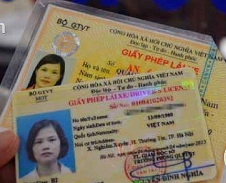 Giay phep lai xe con han su dung co can doi sang the PET? - Anh 1