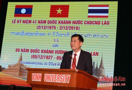 Dai hoc Vinh to chuc Le ky niem Quoc khanh Lao va Thai Lan - Anh 2