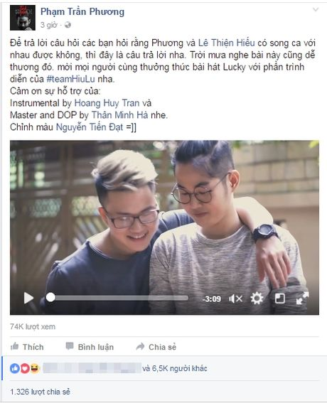 Cap ban than SMS Tran Phuong - Thien Hieu tiep tuc song ca ngot ngao 'tinh tu' trong clip moi - Anh 1