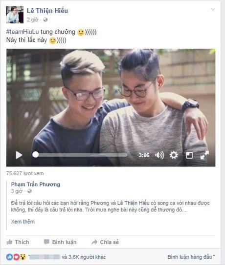 Cap ban than SMS Tran Phuong - Thien Hieu tiep tuc song ca ngot ngao 'tinh tu' trong clip moi - Anh 2