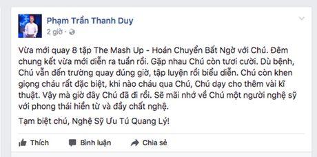 Sao Viet bang hoang, bat khoc khi biet tin NSUT Quang Ly dot ngot qua doi - Anh 4