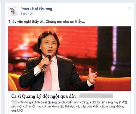 Sao Viet bang hoang, bat khoc khi biet tin NSUT Quang Ly dot ngot qua doi - Anh 7
