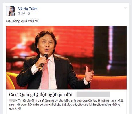 Sao Viet bang hoang, bat khoc khi biet tin NSUT Quang Ly dot ngot qua doi - Anh 8
