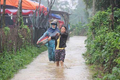 Nuoc song len nhanh, Quang Ngai so tan khan cap hang tram ho dan - Anh 1