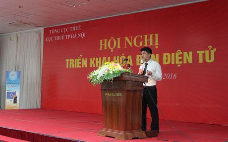 Gan 5.000 doanh nghiep HN tap huan su dung hoa don dien tu - Anh 1