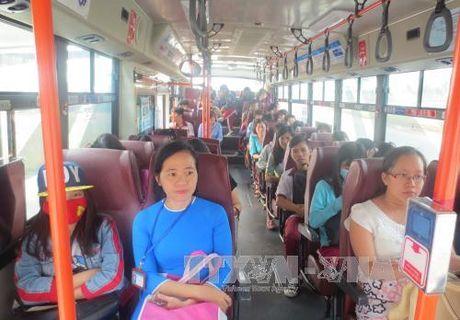 """Nhieu nguoi dan """"tinh le"""" lua chon xe buyt la phuong tien di lai thuong xuyen - Anh 1"""
