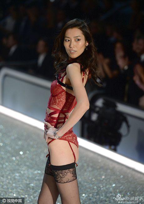 Bon chan dai goc Hoa toa sang tren san dien Victoria's Secret 2016 - Anh 3