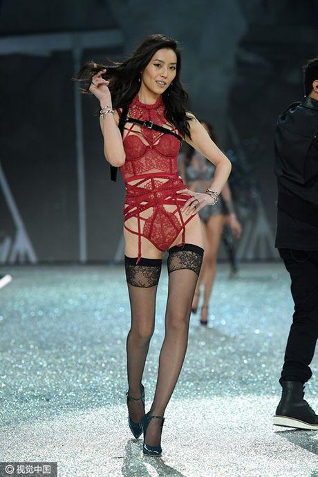 Bon chan dai goc Hoa toa sang tren san dien Victoria's Secret 2016 - Anh 4