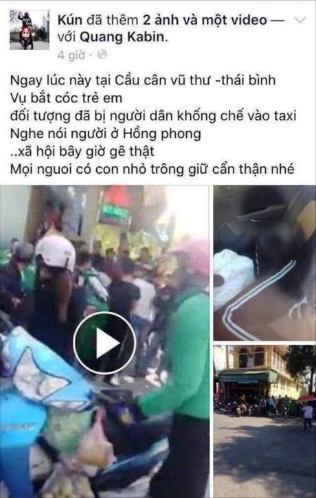 Thai Binh: Thong tin bat coc tre em tren mang xa hoi la that thiet - Anh 1