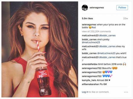 Selena Gomez chinh thuc tro thanh 'Nu hoang trieu likes cua Instagram' - Anh 2