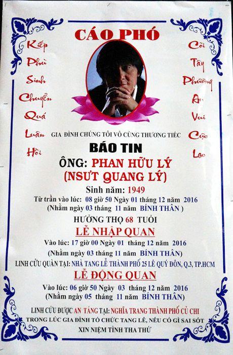 Gia dinh, ban be van chua tin... NSUT Quang Ly ra di - Anh 1