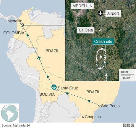 Nghi van xung quanh vu may bay roi do het xang o Colombia - Anh 2