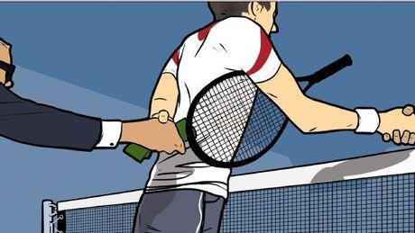 Sau tay vot tennis bi bat khan cap - Anh 1