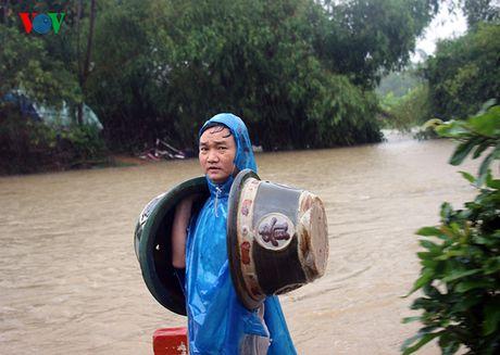 Chum anh: Nong dan Binh Dinh lieu minh 'vat lon' trong lu cuu mai - Anh 3