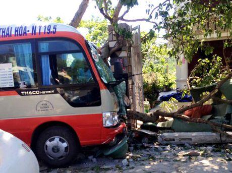 Vụ tai nạn xảy xa vào chiều 5/6/2016 trên quốc lộ 48A đoạn qua xóm 9 Bắc Lâm, xã Diễn Lâm, huyện Diễn Châu. Theo các nhân chứng, vào thời điểm trên, xe buýt số 25 mang biển kiểm soát 37B - 015.35 của công ty Thạch Thành do tài xế Nguyễn Văn Dũng điều khiển. Xe đang lưu thông theo hướng Diễn Châu - Nghĩa Đàn, đi đến đoạn đường trên thì bỗng nhiên mất lái, đâm sầm vào gốc cây và cột điện bên đường.  Cú tông mạnh của xe buýt đã làm gãy một cột điện, đầu xe nát bét, mắc kẹt trước một gốc cây và tường rào của nhà dân. Tài xế Nguyễn Văn Dũng và một số hành khách được những người có mặt tại hiện trường đưa ra khỏi xe và chuyển đi cấp cứu tại bệnh viện Phủ Diễn trong tình trạng chấn thương nặng. Được biết, trên xe lúc đó có rất ít hành khách.