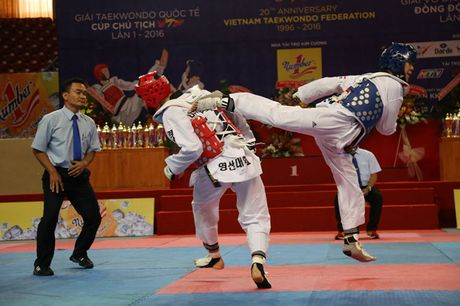 Viet Nam thang lon tai giai taekwondo quoc te tren san nha - Anh 1
