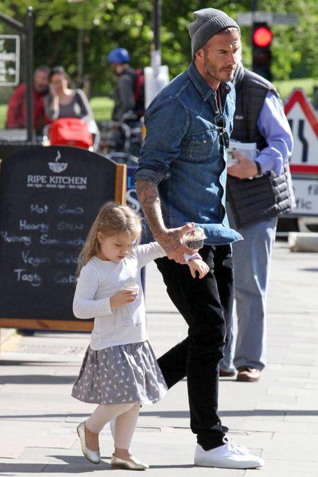 Ngam chum anh dang yeu cua be Harper Beckham trong vong tay bo me - Anh 3