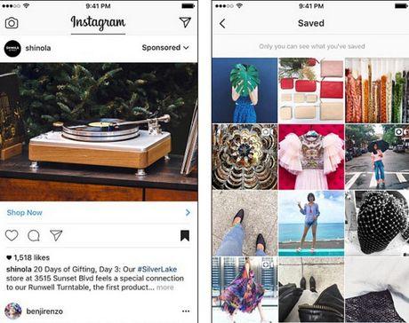 Instagram ra mat tinh nang luu bai dang giong Facebook - Anh 2