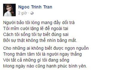 Nguon goc bai tho 'noi ho' Ngoc Trinh ve chuyen yeu Hoang Kieu - Anh 1