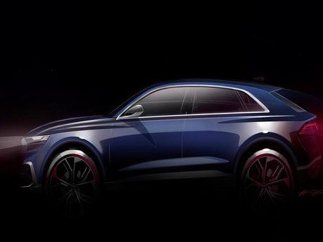 Audi Q8 E-tron concept lo dien, doi thu cua BMW X6 va GLE Coupe - Anh 1
