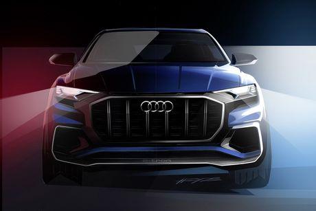 Audi Q8 E-tron concept lo dien, doi thu cua BMW X6 va GLE Coupe - Anh 2