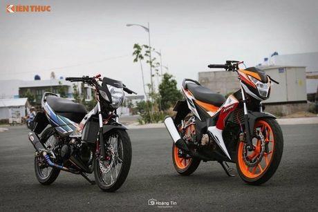 'Xe no' Honda Sonic 125 do sieu khung tai Viet Nam - Anh 1