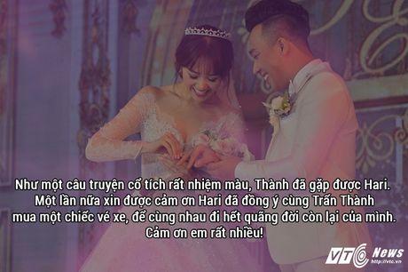 Ngon tinh co tich va triet ly tinh yeu Tran Thanh danh cho Hari Won - Anh 9