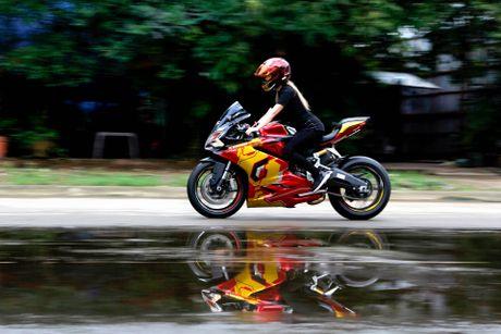 Nu biker 9X Sai Gon dam me Iron Man - Anh 9