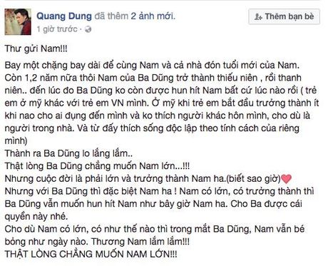 Cam dong voi tam su cua Quang Dung viet cho con trai - Anh 3