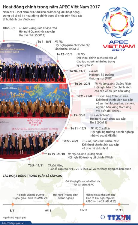 Hoat dong chinh trong nam APEC Viet Nam 2017 - Anh 1